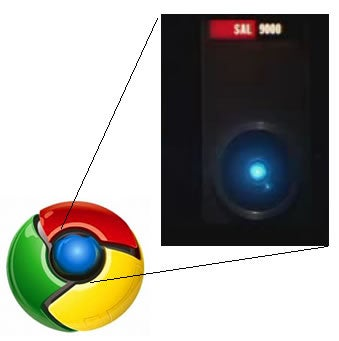 Chrome Logo Inspired by Cheesy Scifi Movie Sequel?