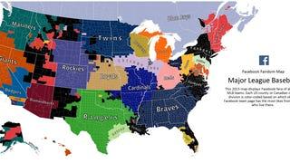 Here's Facebook's 2015 MLB Fandom Map