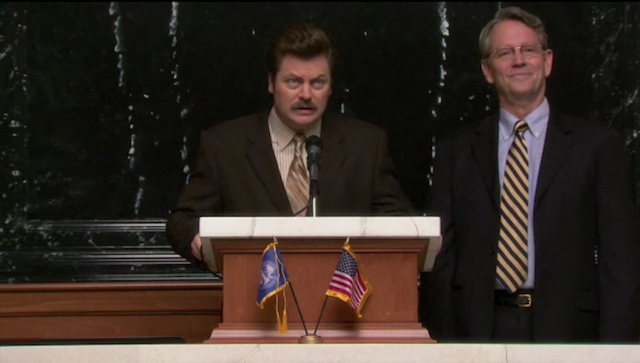 Watch Two Deleted Scenes from Parks and Rec About Ron Swanson's Love of Meat