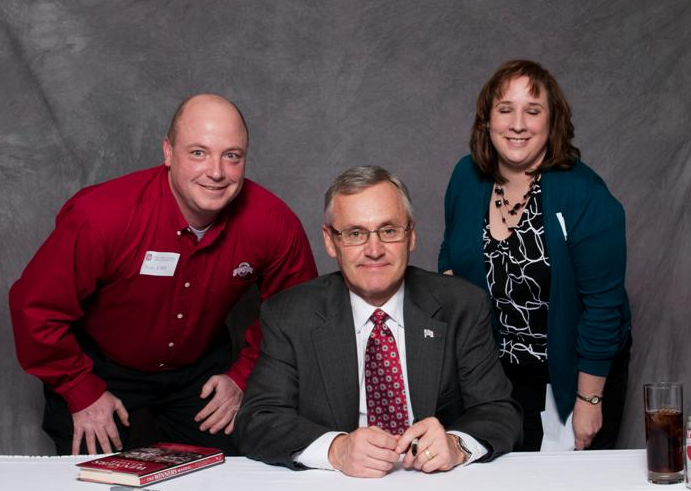 Many Special People Excitedly Posed For Pictures With Jim Tressel Last Week
