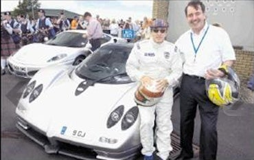 F1 Champ Jackie Stewart Behind Wheel Of $449K Supercar Crash?