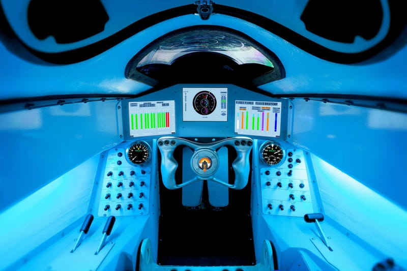 This is the cockpit of the supersonic car that will reach 1000MPH