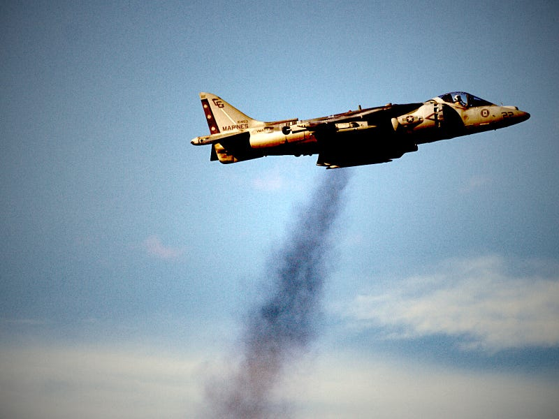 The Eeriness of Viffing a Harrier