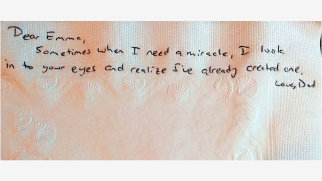 Dad With Cancer Writes 800 Notes to His Daughter