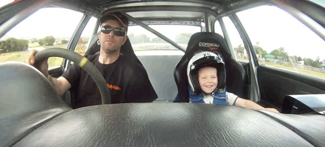 Happiest Kid Ever Gets To Go For A Ride In A Rally Car