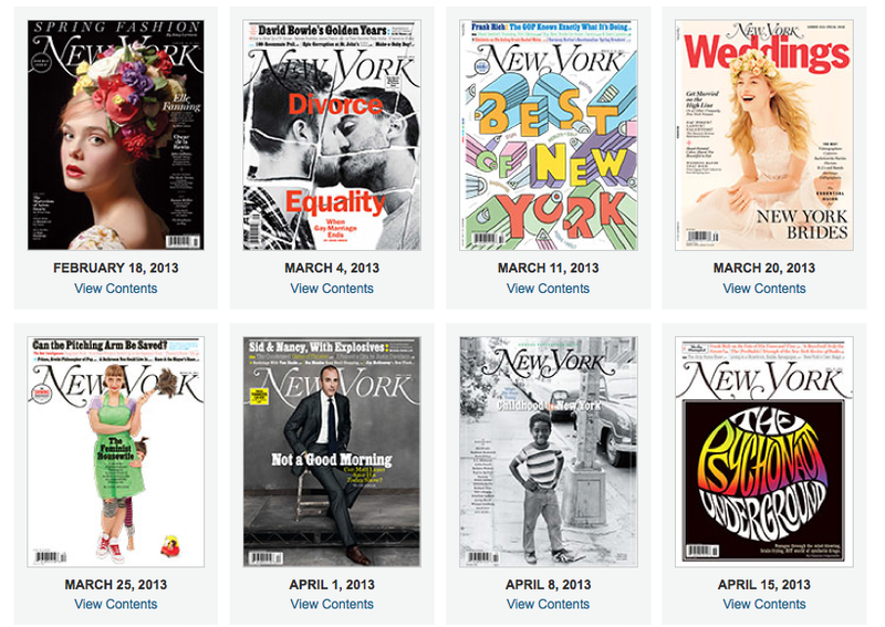 New York Magazine Begins to Give Up on Print