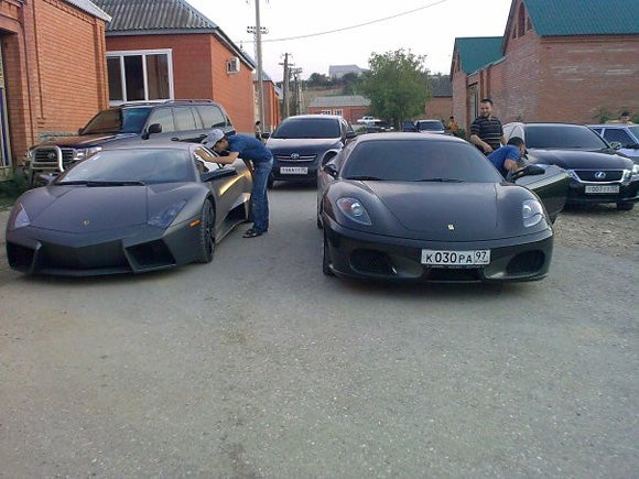 $1.3 Million Lamborghini Reventon Cruises Chechnya