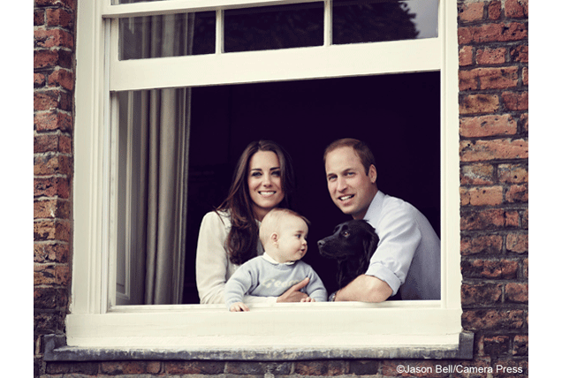 Prince William and Kate Middleton Share Family Photo with Labeled Baby