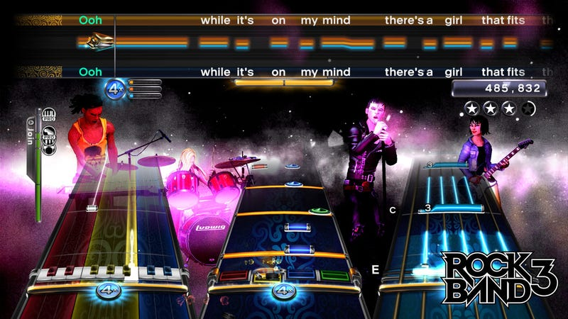 Playing Rock Band 3's New Keyboard, 102 Button Guitar Controller