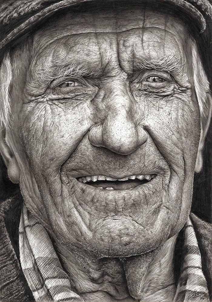 Ultra-realistic drawing shows the amazing skills of a 16-year-old girl
