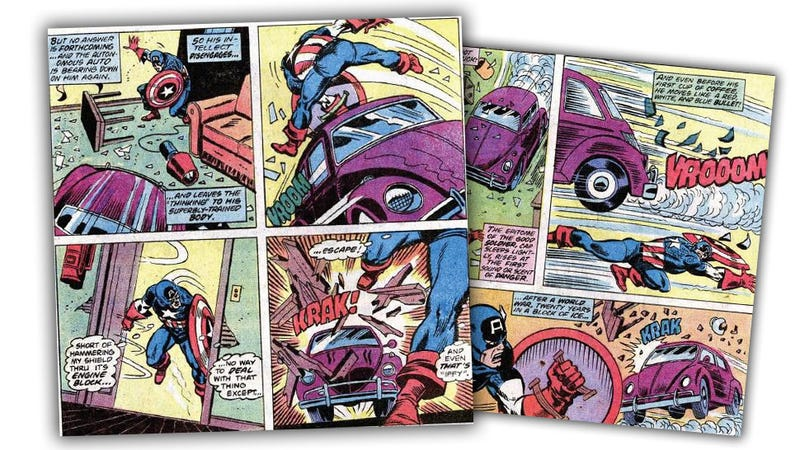 That Time Captain America Fought A Volkswagen Beetle