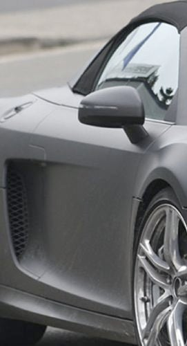 Audi R8 Spyder Spotted With Top On, Yet Naked