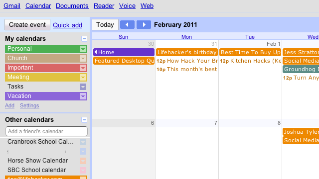Minimalist for Google Calendar Tweaks Google Calendar to Your Liking