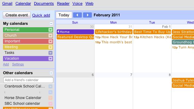 Minimalist for Google Calendar Tweaks Google Calendar to Your Liking