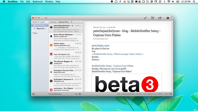ReadNow Provides a Native Mac Desktop Interface for Instapaper and ReadItLater