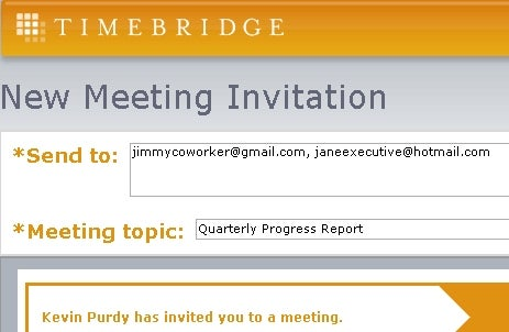 TimeBridge Finds and Confirms Agreeable Meeting Times
