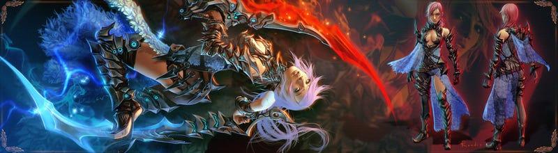 Tetsuya Nomura Picks The Three Best Lightning Fanart