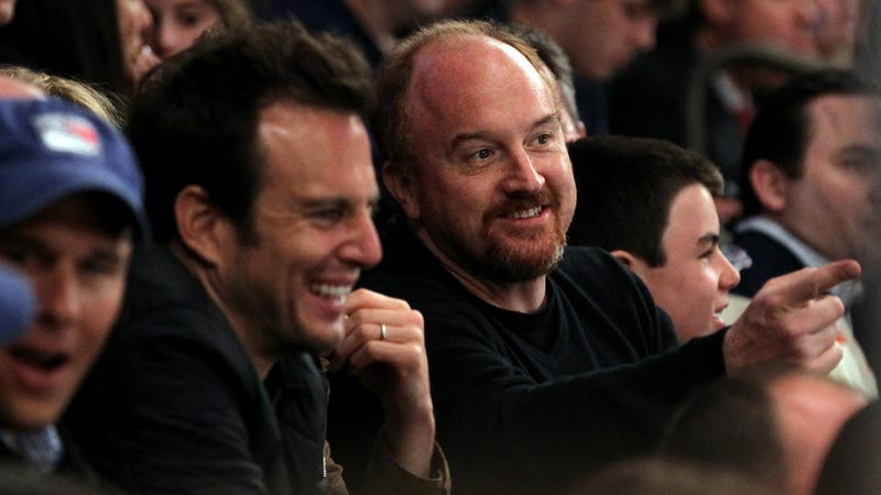 Will Arnett and Louis C.K. Get a Kick Out of Men Fighting with Sticks