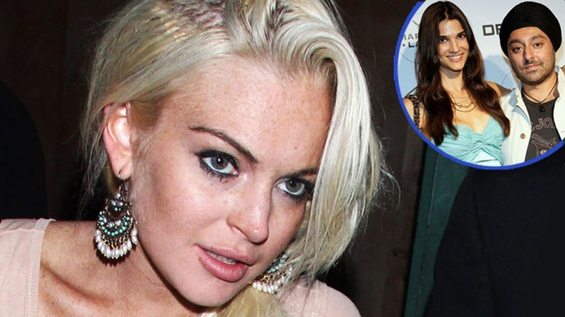 Lindsay Lohan Confronts Her Boyfriend's Wife and Causes a Scene