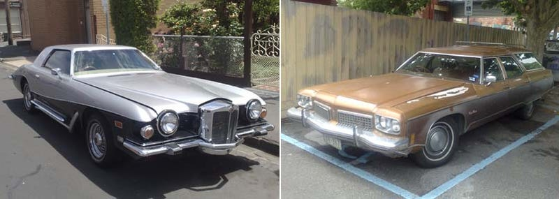 Stutz Blackhawk And Oldsmobile Cutlass Cruiser Wagon Down On The Australian Street