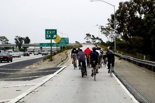 Maniac Cyclists Take To The L.A. Freeway To Protest, Or Something