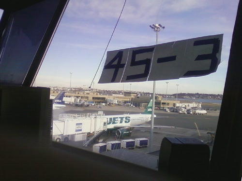 Jets Can't Even Escape 45-3 On Team Plane