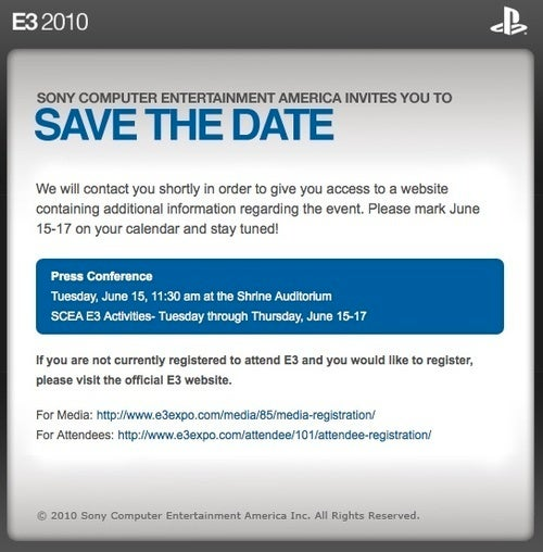 Second Out of the E3 Press Conference Gate: Sony!