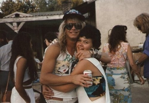 Rare Photos: Brett Michaels and His Harem of Homely Honeys from the '80s