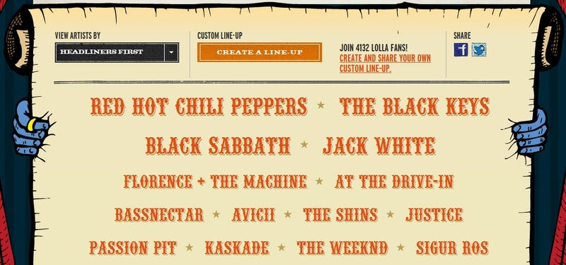 Lollapalooza 2012 Lineup Announced: Everything Old Is Live Again