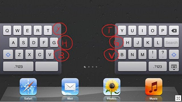 The iPad's Split Keyboard Has a Few Hidden Buttons that Make Typing Easier