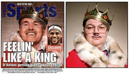 Is the New York Post Trying to Say Something About Knicks Coach Mike D'Antoni?