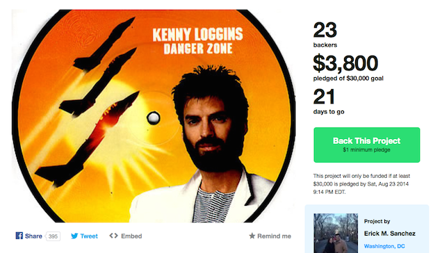 Kickstarter Campaign Seeks to Bring Kenny Loggins to a Fan's Condo