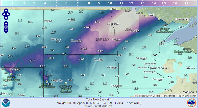 """Blizzard Set to Dump 20"""" of Snow, Drop Temps by 50° in Northern Plains"""