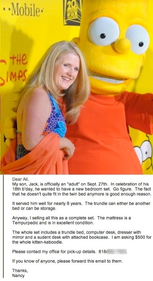 Scientologist Bart Simpson Lady Would Like to Sell You Her Son's Bed