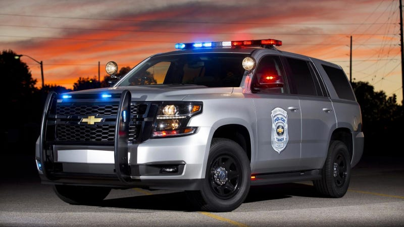 This Is What The 2015 Chevy Tahoe Looks Like In A Police Uniform