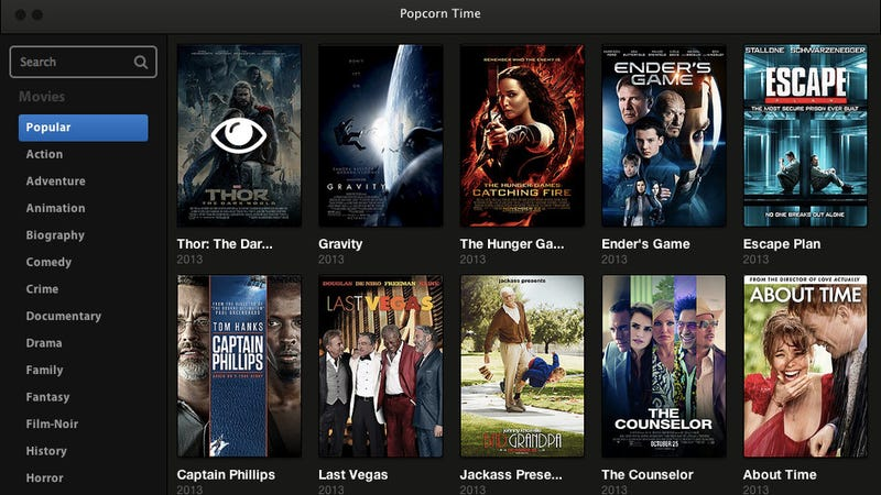 Popcorn Time Lets You Stream Torrent Movies