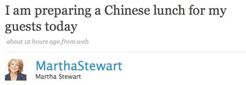Martha Loses Chow, Prepares Chow