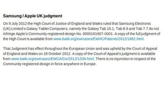 Apple Posts Its Apology To Samsung, But For Real This Time
