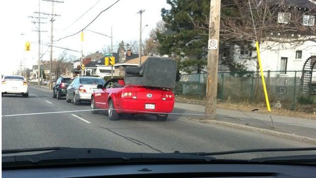 Seven-seat convertible Mustang hauls butts