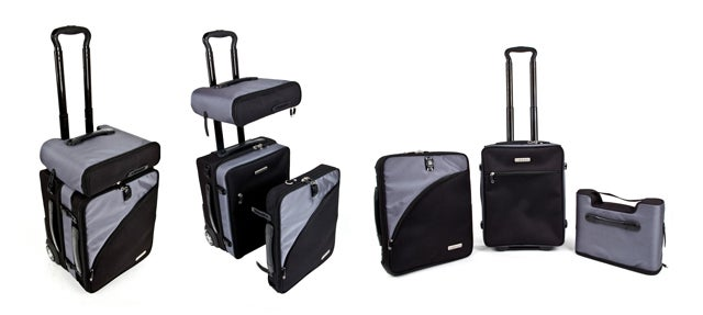 This Carry-On Bag Splits Into Three Parts To Fit Into Even The Tightest Spots
