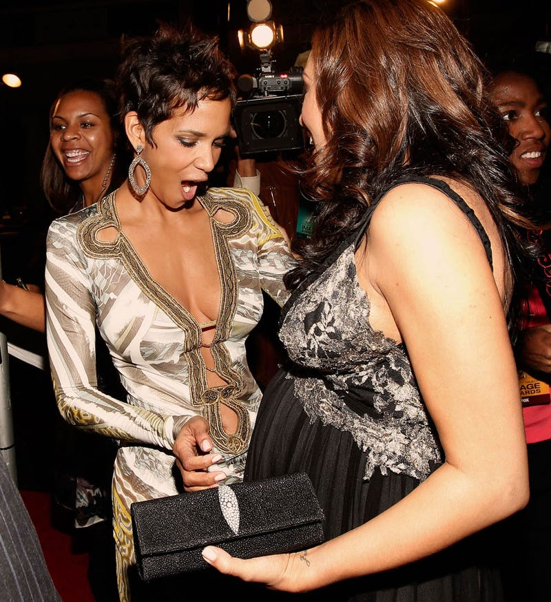 Halle Berry Can't Handle Tia Mowry's Baby Bump