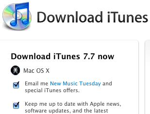 iTunes 7.7 Now Available For Download