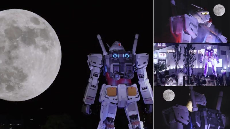 The Super Moon Made Giant Gundam Even More Awesome