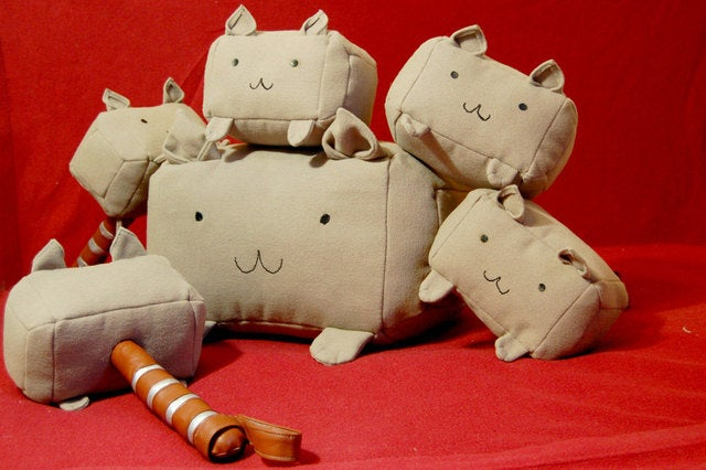 "Oh My God someone made a plush ""Mew-Mew"" version of Thor's Hammer"