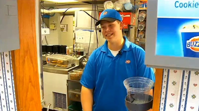This Dairy Queen Employee's Heartwarming Act of Kindness is Priceless