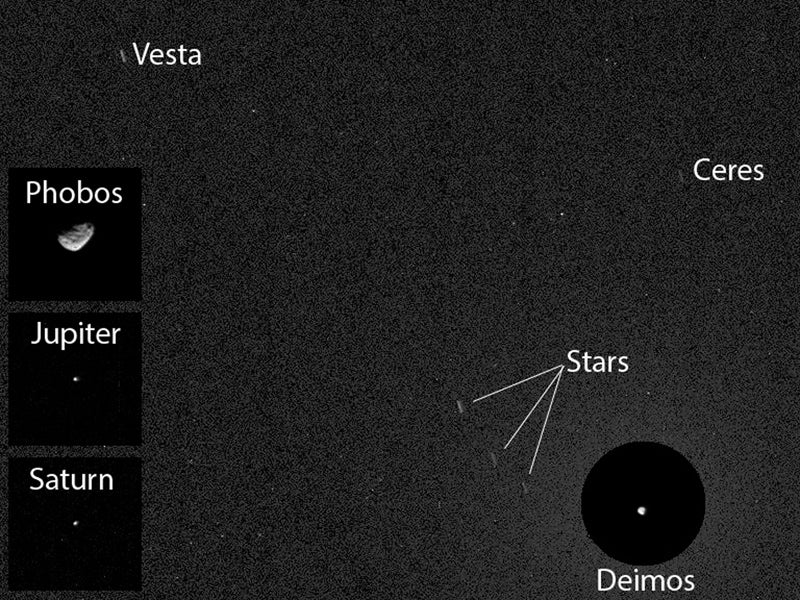The First Image Of An Asteroid As Seen From The Surface Of Mars