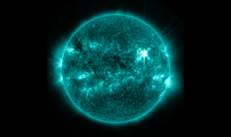 A Solar Flare in Unprecedented Detail