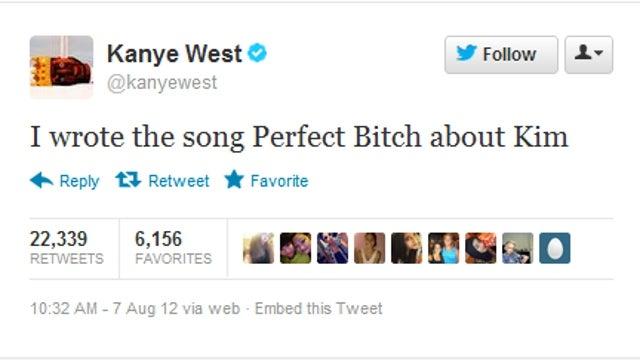 Kanye West Confirms: 'Perfect Bitch' Is About Kim Kardashian