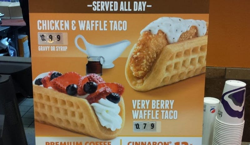 It's Come to This: Taco Bell Starts Testing Chicken & Waffle Taco