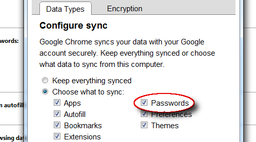 Password Sync Lands in Chrome Dev Channel